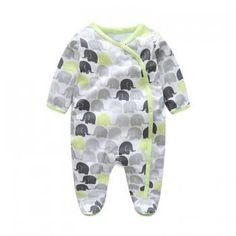 Cute Elephants Footed Snap-up Jumpsuit for Baby