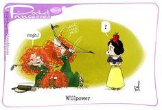 Pocket Princesses by Amy Mebberson  #64- If Disney princesses lived together: Merida & Snow White