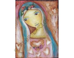 Heart of Mercy    Print from Painting by FLOR LARIOS by FlorLarios, $15.00