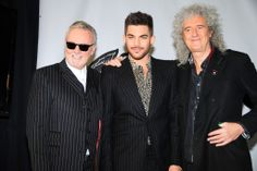 Roger Taylor, Adam Lambert, and Brian May at Madison Square Garden for Queen Press Conference