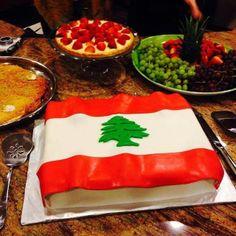 lebanon's flag cake