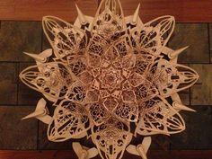 Bloom (Laser Cut Wood Sculpture) by Scott Reynolds