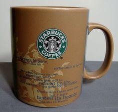 Starbucks Manolo Bean Story Origin Coffee Mug Africa Map 18 oz NWOT Tanzania $31.99 or best offer