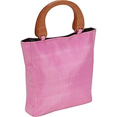 4ebb06f194931 Global Elements Silk Handbag with Wood Handles - Tote - Yvonne s