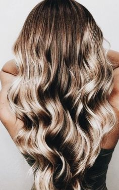 long brunette curls to blonde balayage | long hair ideas