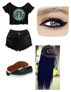 """Going to Starbucks"" by dontbeabish ❤ liked on Polyvore featuring Vans and OBEY Clothing"
