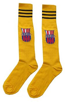 Barcelona Kids Youth Soccer Team Socks Yellow * You can find more details by visiting the image link.Note:It is affiliate link to Amazon.