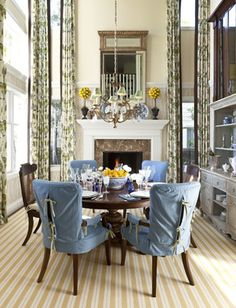 Sophisticated Dining Room in Newport Beach, California | Warren Sheets Design, Inc. | Interior Design