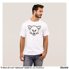 Deer Extractor Logo on White T T-Shirt - logo gifts art unique customize personalize Motocross, Facebook T Shirt, T-shirt Logo, Cartoon T Shirts, White T, Popular, Cat Face, Funny Cute, Scary Funny