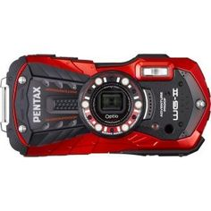 OPTIO WG2 16MP 5x Red by Pentax. $219.69. Pentax-Optio WG-2-Red 16 MP CMOS sensor Wide angle 5X internal optical zoom lens rugged adventure proof digital camera is perfect for any environment. Waterproof to a depth of 40 feet Shockproof design protects from drops up to 5 feet Crushproof construction withstands weights up to 220 LBF (pound-force) Coldproof to sub-freezing temps of minus 10 degrees C (14 degrees F) Large 3 inch LCD. Save 29%!