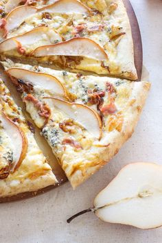 Pears, prosciutto, and gorgonzola are the perfect pairings of sweet and salty on this grown up pizza!