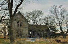 Abandoned house in Dorchester Nebraska