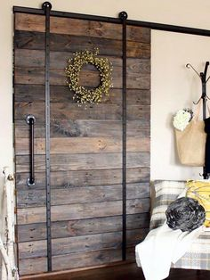 Barn Doors Barn Door Track The Glass Door Store. Barn Doors For Closets That Present Rustic Outlooks In . Sliding Partition Doors Ideas Pictures Remodel And Decor. Finding Best Ideas for your Building Anything Wood Barn Door, Barn Door Track, Diy Barn Door, Diy Door, Wooden Doors, Rustic Barn Doors, Diy Sliding Barn Door, Diy Pallet Projects, Home Projects