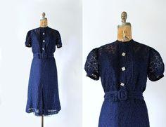 1930s dress  vintage 30s dress  Art Deco 30s by TambourVintage