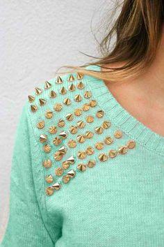 Mint + gold details.