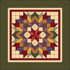 Harvest Wreath Animated Quilt Pattern Wall by QuiltPatterns Big Block Quilts, Star Quilt Blocks, Star Quilts, Scrappy Quilts, Mini Quilts, Patchwork Quilting, Hand Quilting, Barn Quilt Designs, Barn Quilt Patterns