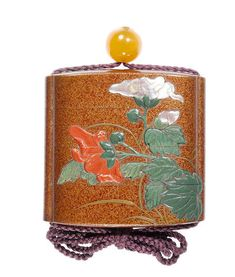 A lacquer three-case inro By Nomura Chohei(sai), early century Japanese Literature, Heian Period, Turning Japanese, Bond Street, Objet D'art, Japanese Art, 19th Century, Vibrant Colors, Candle Holders