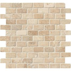 MS International Chiaro Brick 12 in. x 12 in. x 10 mm Tumbled Travertine Mesh-Mounted Mosaic Tile-SH-CHBRI1X2T - The Home Depot