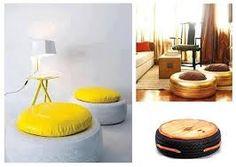 mesa con neumatico reciclado - Buscar con Google
