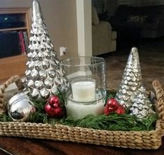 My Christmas Coffee Table Tray Coffee Table Centerpieces, Coffee Table Tray, Decorating Coffee Tables, Coffee Table Christmas Decor, Winter Centerpieces, Christmas Tablescapes, Christmas Table Decorations, Holiday Decor, Snowman Decorations