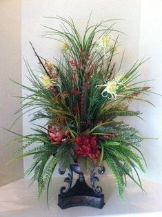 Tall artificial flower arrangements