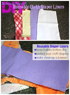 Ditch the disposable liners & DIY your own reusable diaper liners for cloth diapering on a budget. Easy to make, cheap & no sewing required!