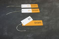 Die Cut To/From Gift Tags by ReadyGo