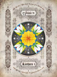 Silmarillion heraldry: Luthien 1 by Aglargon on DeviantArt