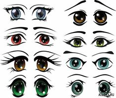 Cartoon eyes with different emotions and expressions - 25 Eps