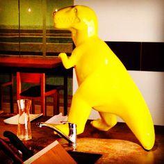 Dinosaur art at East Beijing Hotel, Beijing, China -- Photo by Tora Chung