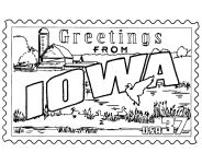 USA-Printables: State of Iowa Coloring Pages - Iowa tradition and culture coloring pages