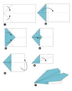 cz - Origami - learn how to fold paper, guides, galleries - De luchthaven - Bunny Origami, Dinosaur Origami, Origami Butterfly, Paper Plate Crafts For Kids, Paper Crafts, Paper Rockets, Kites Craft, Airplane Crafts, Airplane Party