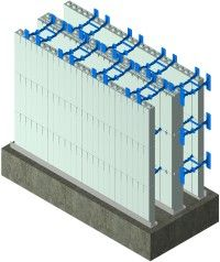 Browse Drawings of ICF components, insulated concrete form wall setups, and other ICF elements. Concrete Formwork, Concrete Houses, Icf Walls, Insulated Concrete Forms, Swimming Pool Construction, Types Of Insulation, Residential Construction, Roof Design, Prefab Homes