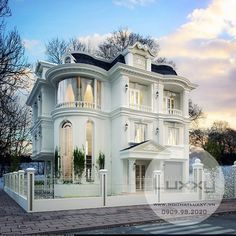 Exterior of Design Ocean View Villas, House Plans, Exterior, Mansions, Luxury, House Styles, Classic, Design, Train