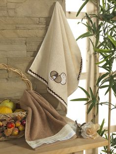 'EGG / LACE' #Ecocotton #Kitchen #Collection; #Organic, #Embroidered Towel, #Lace Towel Towel http://www.ecocotton.com.tr/UrunDetay.aspx?urun=370&lang=2