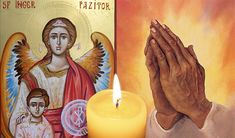 """""""O, Înger prea frumos, lumină blândă, apărător al meu de Sfânt Botez, Mă închin la tine în înima plăpândă, te rog, te chem, te caut, te visez. Doar tu îmi ești suport în calea lungă, pândită de noroi, de patimi, de păcat. Aduci scânteia în cale să-mi ajungă, când trec prin loc întunecat. Căci mâna... Birthday Candles, Cots"""
