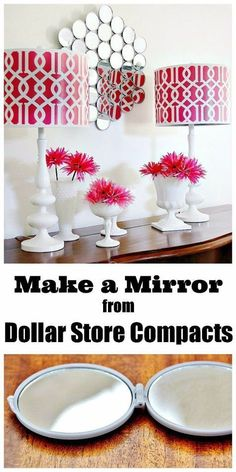 Easy Crafts To Make and Sell - Mirror Wall From Dollar Store Compacts - Cool Homemade Craft Projects You Can Sell On Etsy, at Craft Fairs, Online and in Stores. Quick and Cheap DIY Ideas that Adults and Even Teens Can Make http://diyjoy.com/easy-crafts-to-make-and-sell #craftstomakeandsell