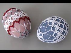 Frywolitka Agi - Pisanka w frywolitce - YouTube Xmas Crafts, Crafts To Make, Crochet Stone, Egg Shell Art, Needle Tatting Patterns, Easter Egg Pattern, Tatting Earrings, Beaded Spiders, Crochet Borders