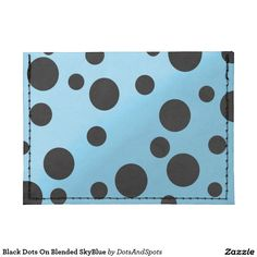 Black Dots On Blended SkyBlue Tyvek® Card Case Wallet