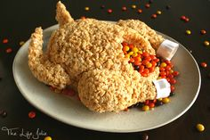 This Rice Krispie Treat Turkey is a super-fun dessert option for both kids and adults! I could not believe how quick and easy it was to make- everyone LOVED it! This post contains Affiliate Links. Please see the disclaimer here. In case it wasn't already super obvious, this post is proof that I really am such a dork. I try to keep it under wraps and once in a while, I like to think I come off as cool and collected. But today I'm letting my freak flag fly and telling you that I geeked out…