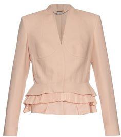 ALEXANDER MCQUEEN Peplum-hem wool and silk-blend jacket - $1,240.00