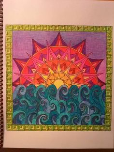 From Color Me Calm Colouring Book