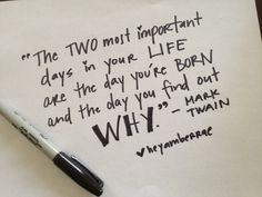 2 most important days...