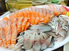 2014.10.12 노량진 수산시장 연어,전어, 대하, 산낙지, 매운탕