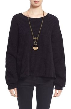 Free shipping and returns on Free People 'Don't Let Me Go' Slouchy Cotton Pullover Sweater at Nordstrom.com. If there's nothing you want more on a blustery day than a snuggly sweater to envelop you in warmth, this slouchy pullover is calling your name. Soft cotton is knit into a chunky sweatercomplete with voluminous dolmansleeves and a swingyhigh/low hem to ensure ultimate comfort in the coolest weather.