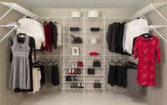Organized Living.com | Get ideas for organizing closets from our inspiration gallery...lower end, but would also meet our needs.