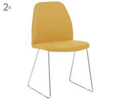 Verwandeln Sie Ihre Wohnung in ein stylisches Apartment, mit Polsterstuhl-Set BROOKLYN! Das minimalistische Design setzt ein wunderbar modernes Highlight im Raum, das man sich nicht entgehen lassen sollte. Natürlich erfüllt das Modell auch alle Komfort-Ansprüche und ist ein herrlich bequemes Möbelstück für schöne Stunden rund um den gedeckten Tisch.