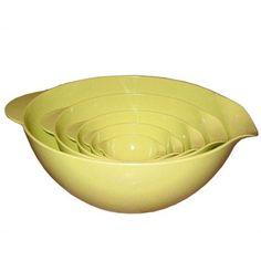 Reston Lloyd Calypso Basics Melamine 5 Piece Mixing Bowl Set in Lemon