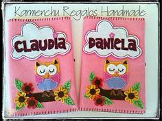 Funda cartilla sanitaria karmenchugift@gmail.com Lunch Box, Letters, Slipcovers, Presents
