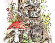 The Tales of Stump Folks. The House. Working On Myself, New Work, Rooster, Folk, Behance, Illustrations, Watercolor, Gallery, Creative